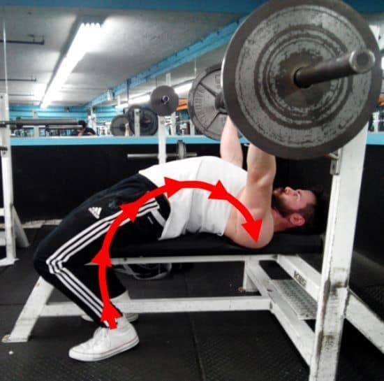 leg drive shift weight on to shoulder blades